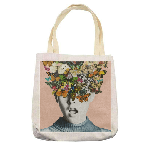 Twiggy Surprise (Pink) - printed tote bag by Desirée Feldmann