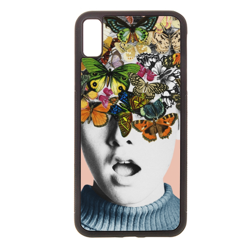 Twiggy Surprise (Pink) - Rubber phone case by Desirée Feldmann