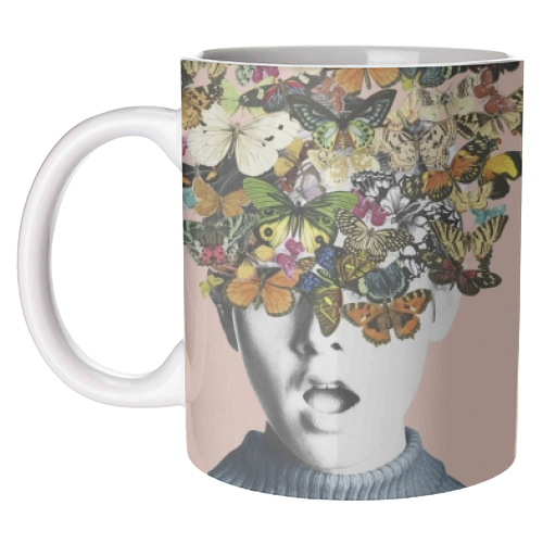Twiggy Surprise (Pink) - unique mug by Desirée Feldmann