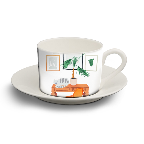 Nap - personalised cup and saucer by Uma Prabhakar Gokhale