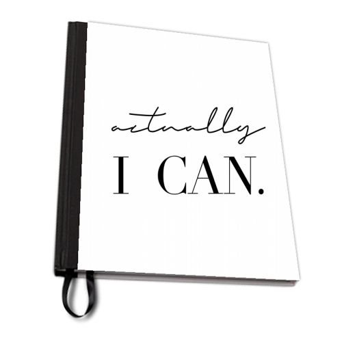 Actually I Can - designed notebook by Toni Scott