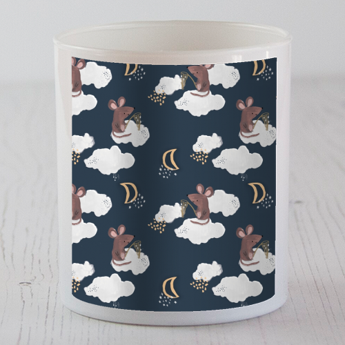 Mouse on a cloud repeat pattern - Candle by lauradidthis