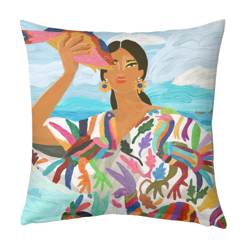 Mexican Colors - designed cushion by Ana Clerici