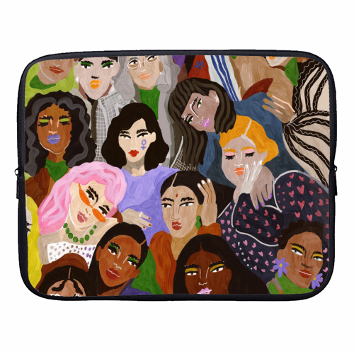 Women's Day - designer laptop sleeve by Ana Clerici
