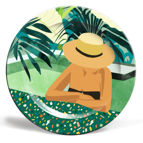 Chill - ceramic dinner plate by Uma Prabhakar Gokhale