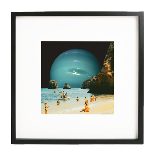 Space Beach - printed framed picture by taudalpoi