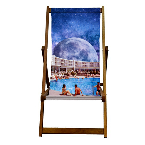 Galactic Pool - canvas deck chair by taudalpoi