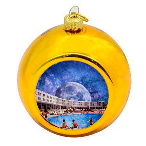 Galactic Pool - colourful christmas bauble by taudalpoi