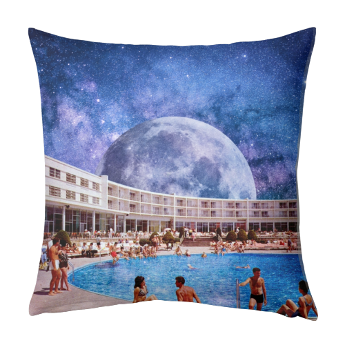 Galactic Pool - designed cushion by taudalpoi