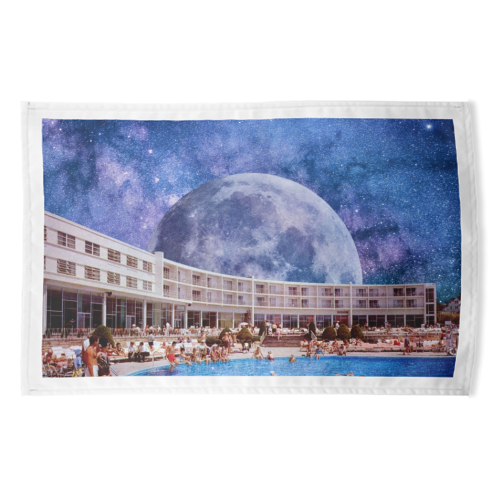 Galactic Pool - funny tea towel by taudalpoi