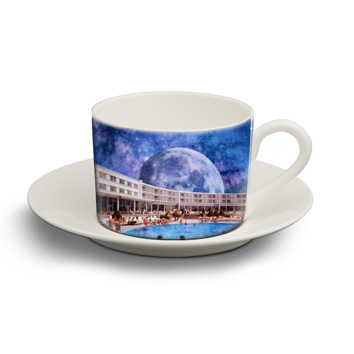 Galactic Pool - personalised cup and saucer by taudalpoi