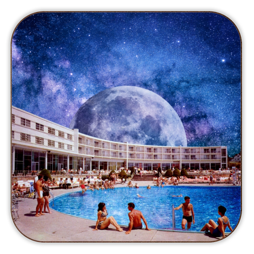 Galactic Pool - personalised drink coaster by taudalpoi