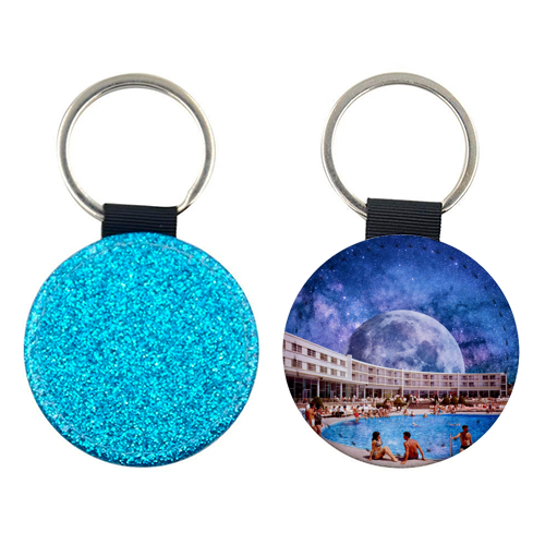 Galactic Pool - personalised picture keyring by taudalpoi