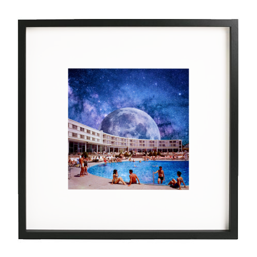 Galactic Pool - printed framed picture by taudalpoi