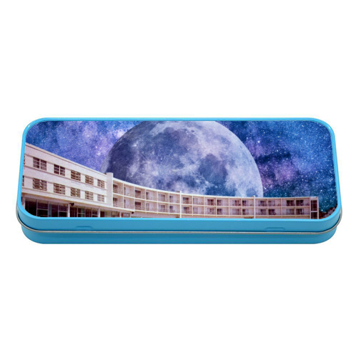 Galactic Pool - tin pencil case by taudalpoi