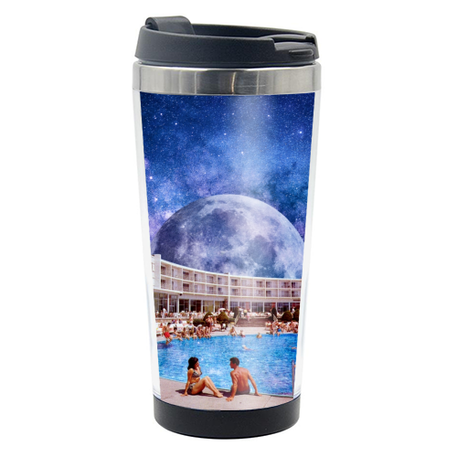 Galactic Pool - travel water bottle by taudalpoi