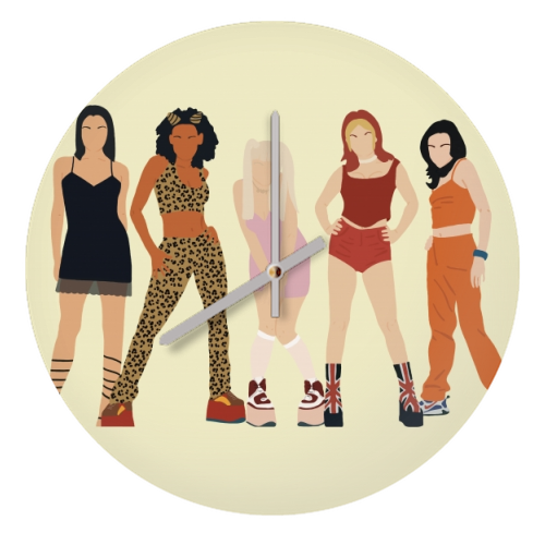 Spice Girls - creative clock by Cheryl Boland