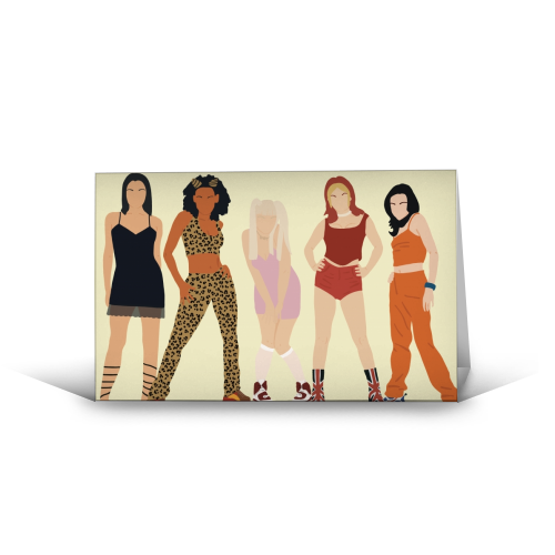 Spice Girls - funny greeting card by Cheryl Boland