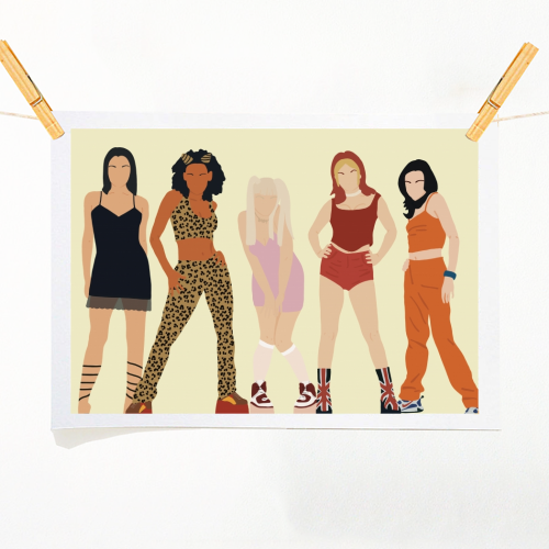 Spice Girls - original print by Cheryl Boland