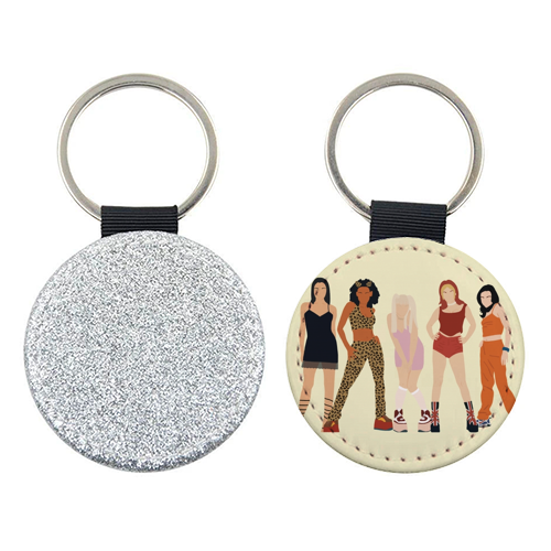 Spice Girls - personalised leather keyring by Cheryl Boland