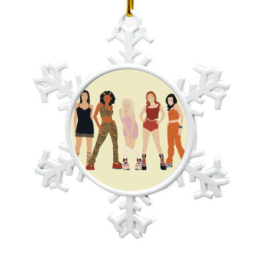Spice Girls - snowflake decoration by Cheryl Boland