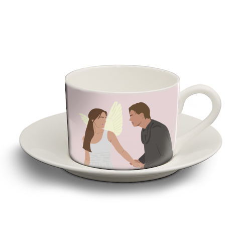Romeo and Juliet - personalised cup and saucer by Cheryl Boland