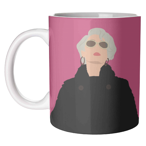 Miranda Priestly - unique mug by Cheryl Boland