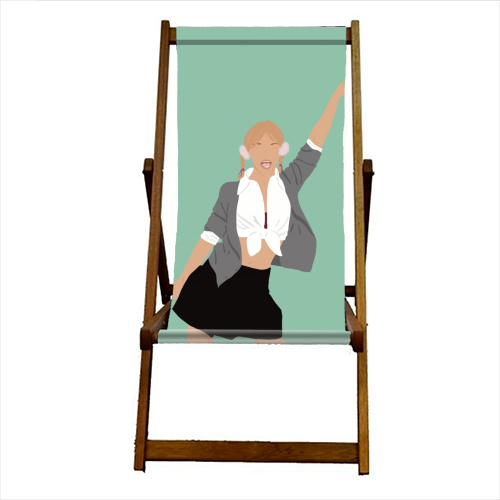 Britney Spears - canvas deck chair by Cheryl Boland