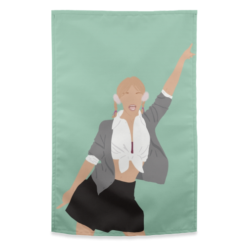 Britney Spears - funny tea towel by Cheryl Boland