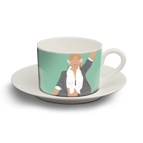 Britney Spears - personalised cup and saucer by Cheryl Boland