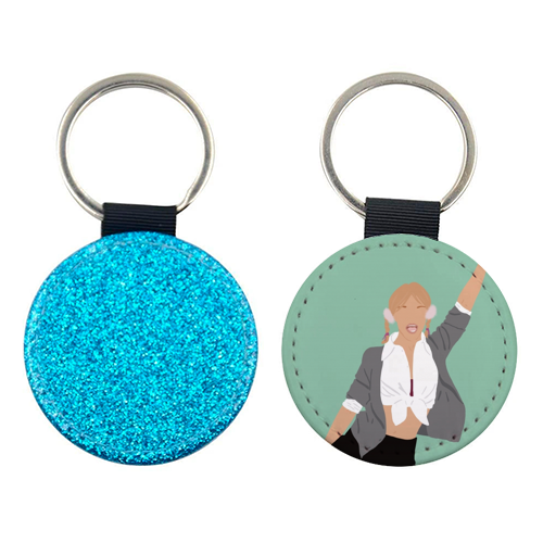 Britney Spears - personalised picture keyring by Cheryl Boland