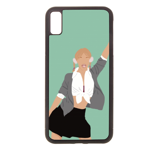 Britney Spears - Rubber phone case by Cheryl Boland