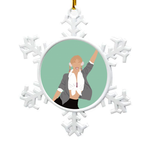 Britney Spears - snowflake decoration by Cheryl Boland