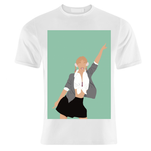Britney Spears - unique t shirt by Cheryl Boland