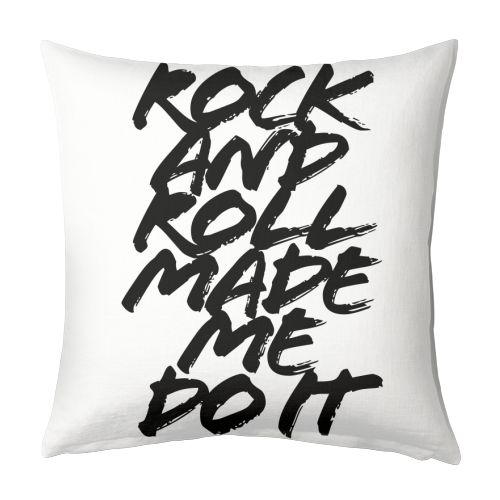 Rock and Roll Made Me Do It Grunge Caps - designed cushion by Toni Scott
