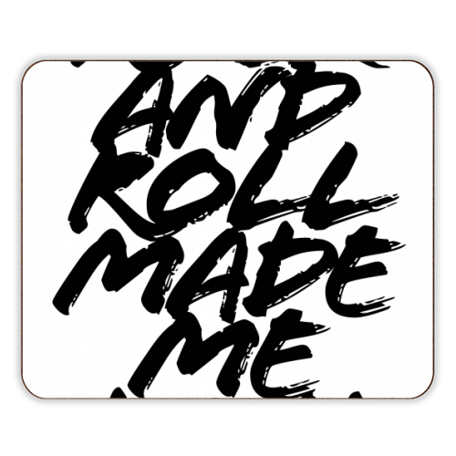 Rock and Roll Made Me Do It Grunge Caps - photo placemat by Toni Scott