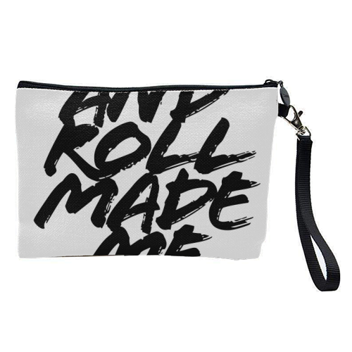Rock and Roll Made Me Do It Grunge Caps - pretty makeup bag by Toni Scott