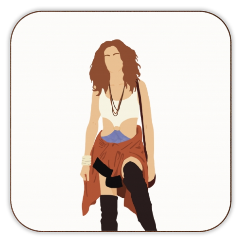 Vivian - personalised drink coaster by Cheryl Boland