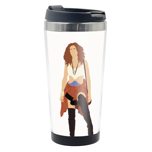 Vivian - travel water bottle by Cheryl Boland
