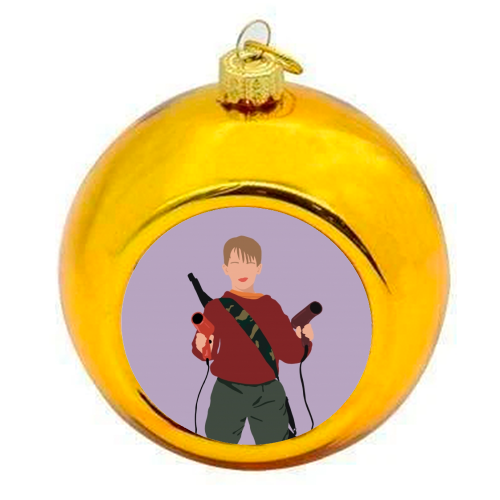 Kevin McCallister - colourful christmas bauble by Cheryl Boland