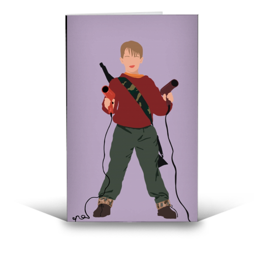 Kevin McCallister - funny greeting card by Cheryl Boland