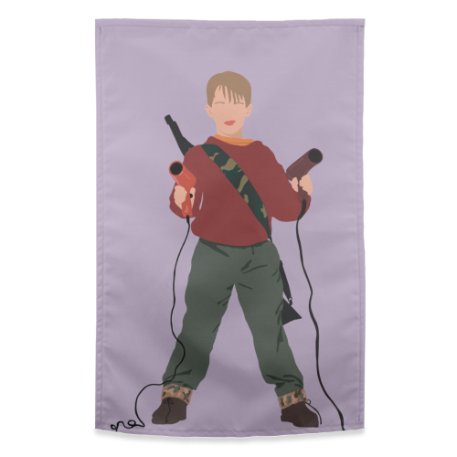 Kevin McCallister - funny tea towel by Cheryl Boland