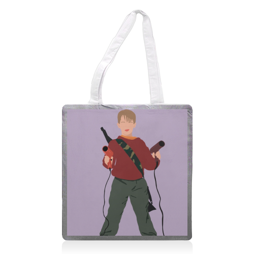Kevin McCallister - printed tote bag by Cheryl Boland