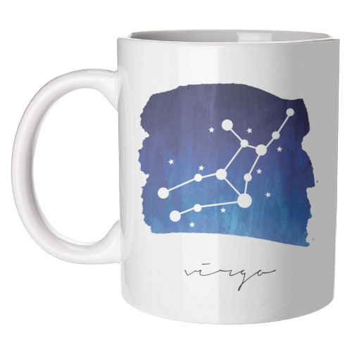 Virgo Zodiac Constellation - unique mug by Toni Scott