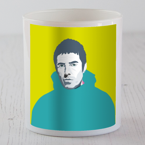 Liam Gallagher Oasis Wonderwall British Music Artist Rocker - Candle by SABI KOZ