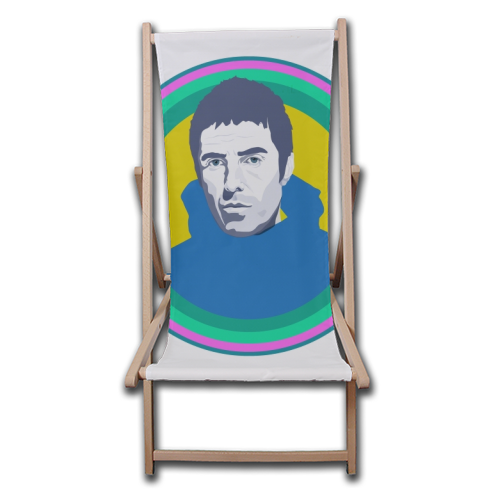 Liam Gallagher Oasis Wonderwall British Music Artist Rocker - canvas deck chair by SABI KOZ