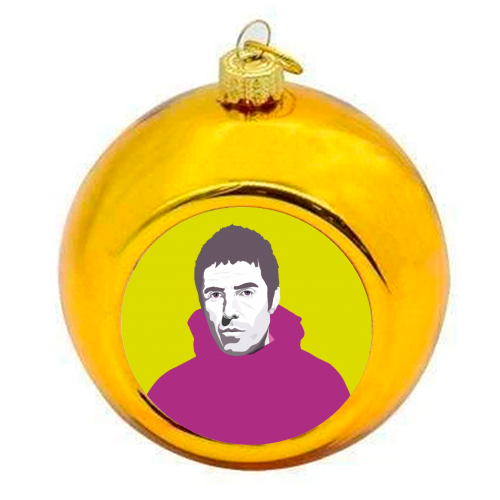 Liam Gallagher Oasis Wonderwall British Music Artist Rocker - colourful christmas bauble by SABI KOZ