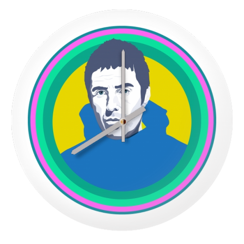 Liam Gallagher Oasis Wonderwall British Music Artist Rocker - creative clock by SABI KOZ