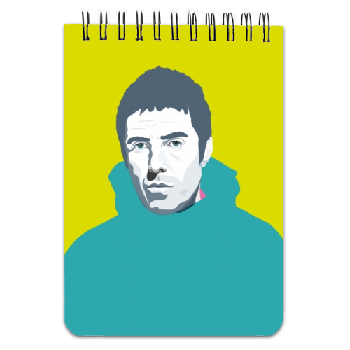 Liam Gallagher Oasis Wonderwall British Music Artist Rocker - designed notebook by SABI KOZ