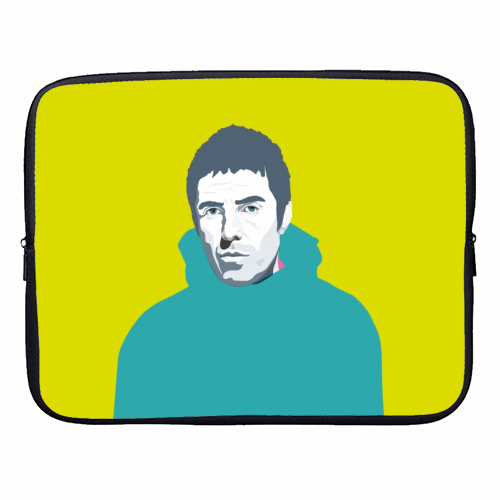 Liam Gallagher Oasis Wonderwall British Music Artist Rocker - designer laptop sleeve by SABI KOZ